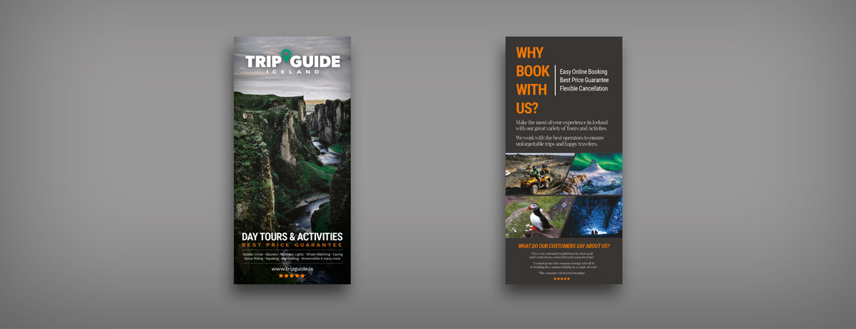 Mockup of a tripguide flyer