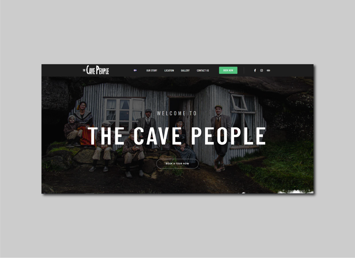 picture of the cave people website design
