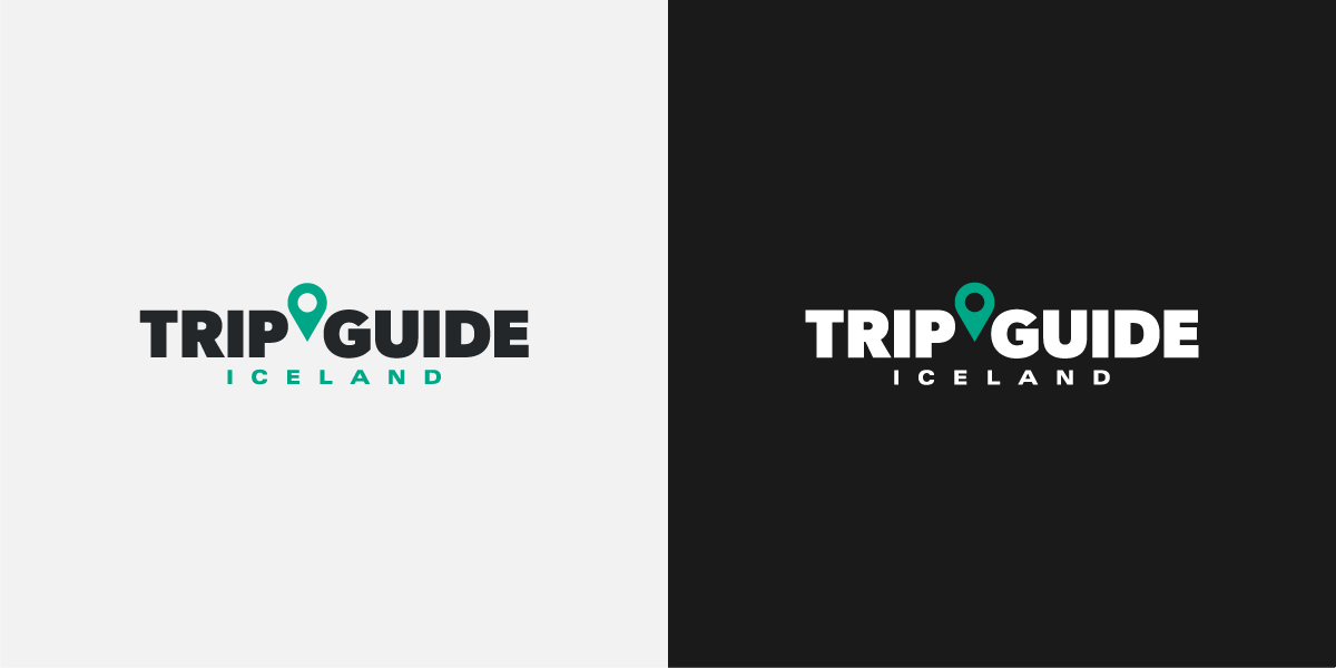 logos of tripguide in white and black